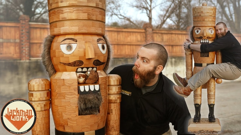 Making a Life-Size Wood Nutcracker (that crushes coconuts)