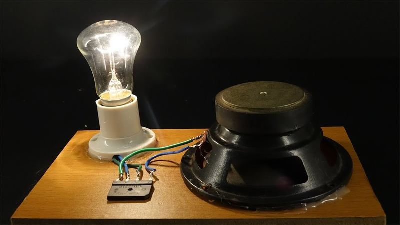 Light bulbs 220 Volts, Free energy generator Using Magnets - Science project at home