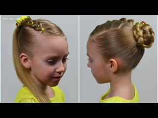 PULL THROUGH BRAID with Ponytail Braided Bun (Quick and Easy hairstyle for Girls #70)