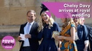 Prince Harry's ex, Chelsy Davy, arrives at royal wedding