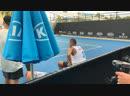 Тренировка самого сумасшедшего теннисиста тура Ник Кирьос на АО