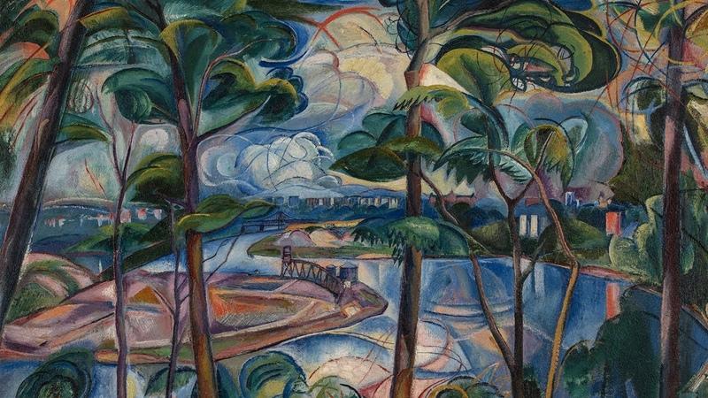 Давид Бурлюк Река Гарлем Инвуд парк 1925