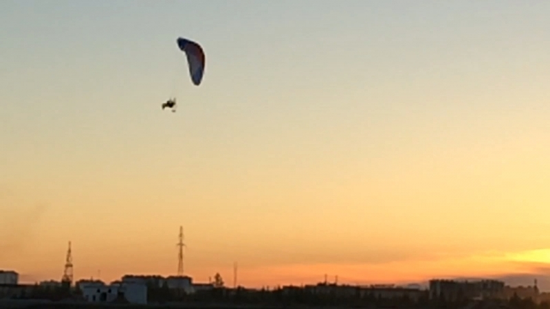 Закат, параплан и 20 минут свободы Я летаю