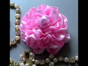 Novo modelo de Rosa de Fitas com varias petalas Pink tapes