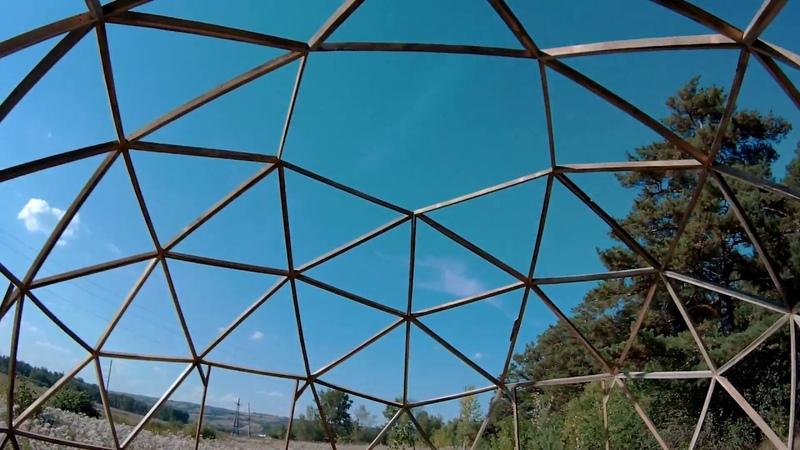 В одного собрал каркас купольного шатра за ОДИН день Студия геосфер