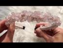Ободок Розовая карамель