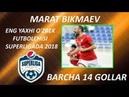 MARAT BIKMAEV ENG YAXHI O'ZBEK FUTBOLCHISI SUPERLIGADA 2018 BARCHA 14 GOLLAR