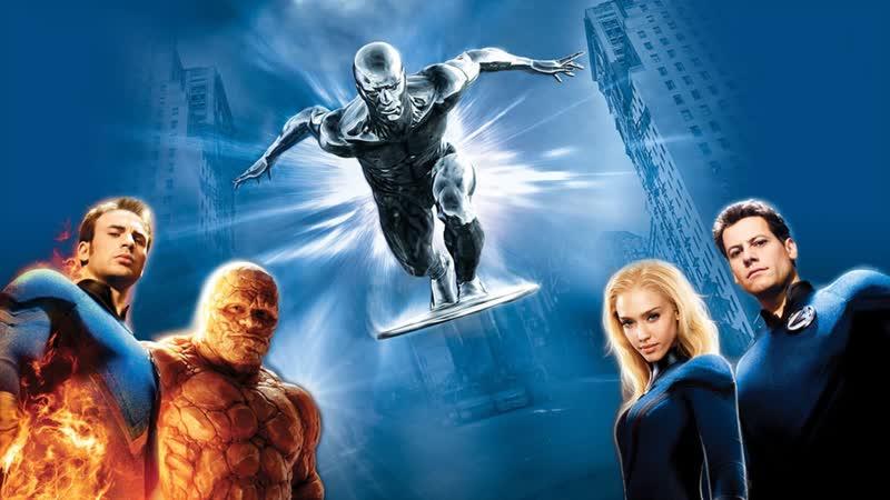 Смотрим Фантастическая четвёрка Вторжение Серебряного сёрфера (2007) Movie Live