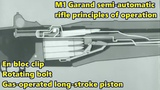 1900-45 Equipment - M1 Garand semi-automatic rifle principles of operation