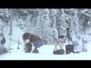 Медведь неожиданно появился на съемках