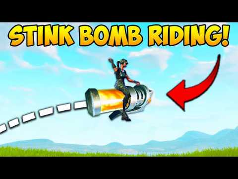 YOU CAN RIDE STINK BOMBS..?! - Fortnite Funny Fails and WTF Moments! 232 (Daily Moments)
