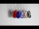 Новинка- гель-лаки Bluesky с защитой от подделки - Геометрический дизайн ногтей со стразами 2017 (1)