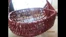 Рукоделие Отличный кошик для дачи из газетных трубочек/ для огорода.