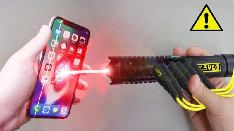 ACE iPHONE X vs ЛАЗЕР 100000W !