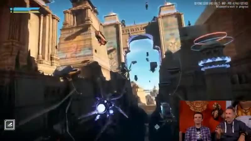 Petite balade en vaisseau et en hoverbike en multi-joueur dans la mégalopole Ganesha City Preé-alpha gameplay ! BeyondGoodAndEvi