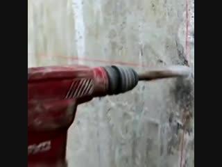 Как сверлят огромные отверстия керноотборником - Заметки строителя