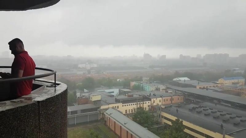 Москва утонула в страшных дождях, 19 Июля 2018 Года.