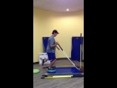One Leg Dyna Disc March With Press And Horizontal Lat Pull