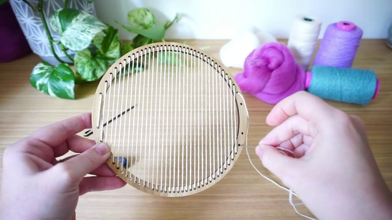 How To Warp a Hoop Loom by The Unusual Pear