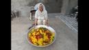 SWEET RICE RECIPE prepared by granny sweet rice making for homeless kids veg village food
