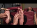 Ebony tickled feet