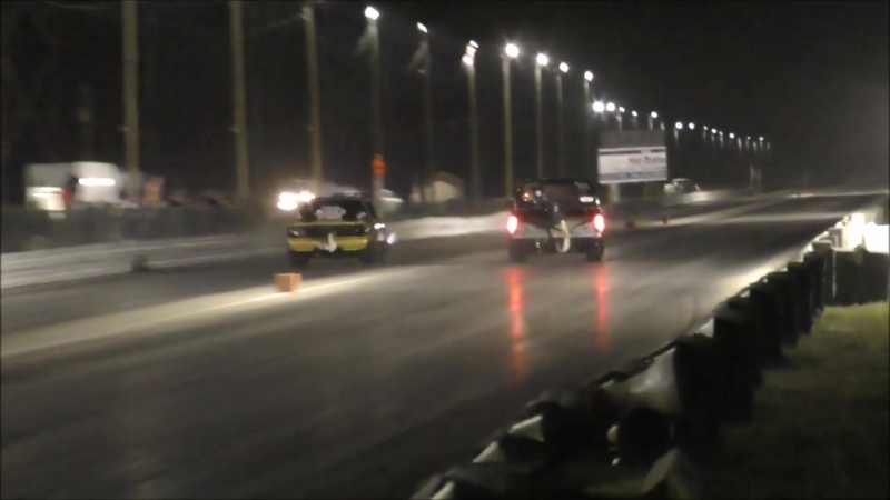 Flaco twin turbo s10 vs The Torch Nitrous Mustang at No Prep Mayhem