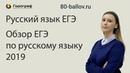 Обзор ЕГЭ по русскому языку 2019