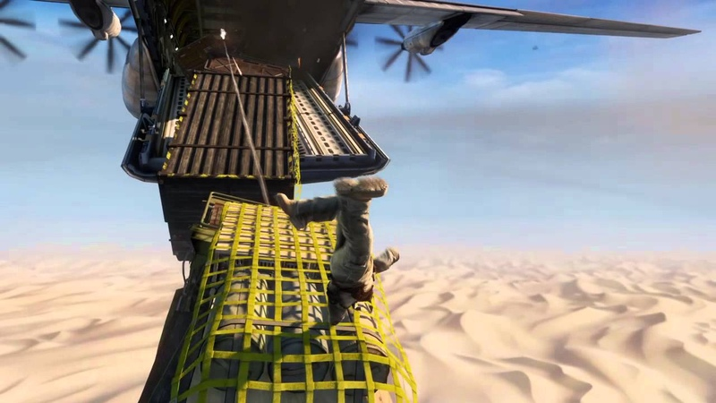Uncharted 3 Remastered- NATHAN DRAKE CHEATS DEATH FROM CRASHING PLANE!