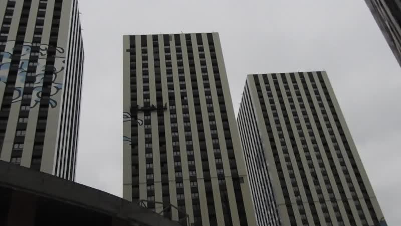 ЖК Эталон Сити башни Токио корпуса №1 2 3 4 5 6 готовность вид снизу от фитнес центра