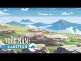 PAINTING a Makoto Shinkai Background