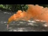 Оранжевая дымовая шашка