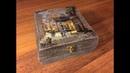 Шкатулка с видом города DIY Вживление распечатки