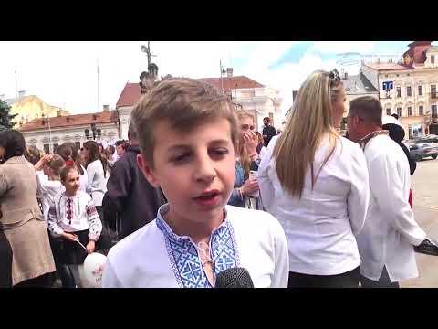 Буковина- встречает детей АТО в Черновцах- День Вышиванки