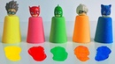 Pj Masks Toys Learn Colors With Kinetic Sand Colorful Cups Paint And Wash 8