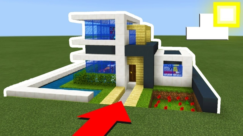 Minecraft Tutorial: How To Make A Easy Modern House 2019 *New*