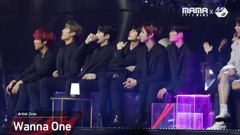 [VK][181213] Wanna One - Reaction to MONSTA X's Performance @ MAMA 2018 in JAPAN