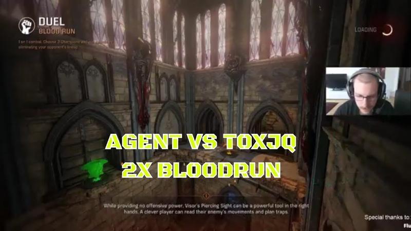 Toxjq vs Agent 2x Blood run Quake Champions