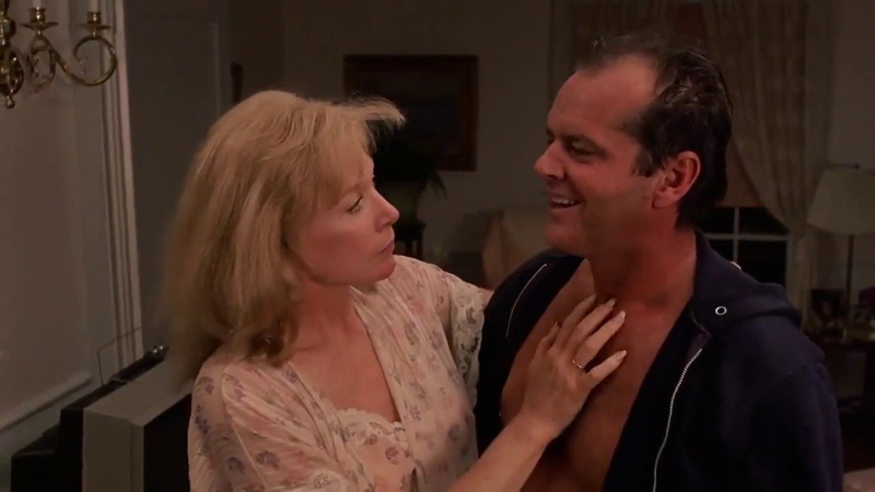 Shirley MacLaine invites Jack Nicholson to her room - Terms of endearment