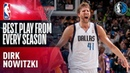 Dirk Nowitzki's Best Play of Each Season In His NBA Career NBANews NBA Mavericks DirkNowitzki