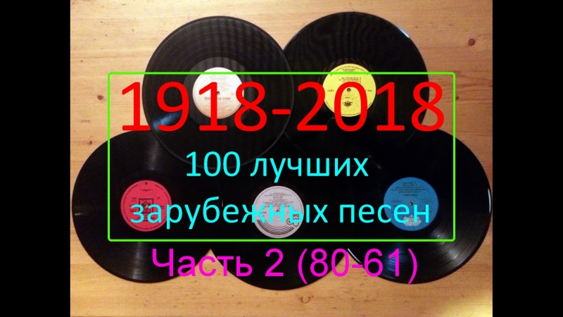 Топ-100 зарубежных хитов всех времен - ч2 (80-61) My Top 100 Hits of All Time - p2 (80-61)