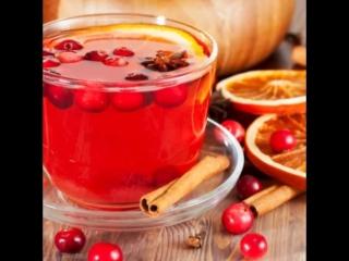 Чайный напиток из сушеных ягод Клюквы