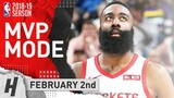 James Harden MVP Highlights Rockets vs Jazz 2019.02.02 - 43 Pts, 12 Reb, 5 Ast 6 Stls, 4 Blocks