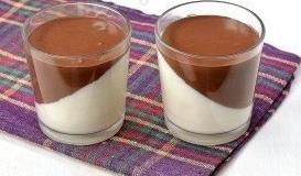 Панна-котта с шоколадом и сгущённым молоком