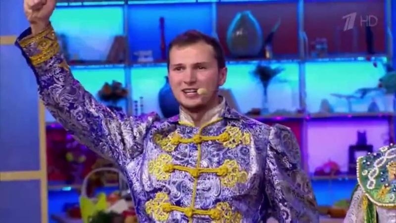 Ансамбль народной песни Любо-Мило на телепередаче Сегодня день начинается на Перовом канале.