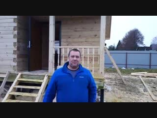 Видеоотзыв о строительстве ДОМА ИЗ БРУСА 7Х9 «АККУРАТНЫЙ» построенном компанией Брусина!