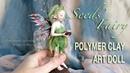 Seeds Fairy - OOAK Polymer Clay Art Doll Sculpture