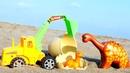 Для самых маленьких. Мультики для малышей песочница, экскаватор и динозаврик