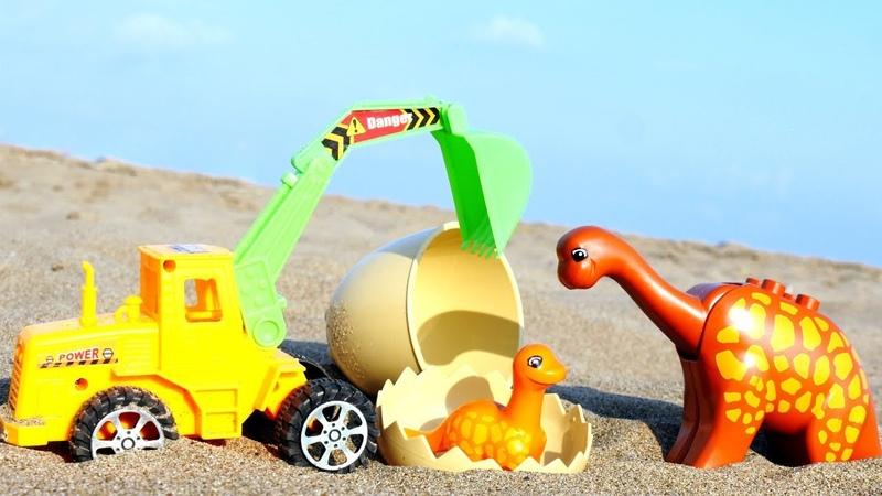 Для самых маленьких. Мультики для малышей: песочница, экскаватор и динозаврик