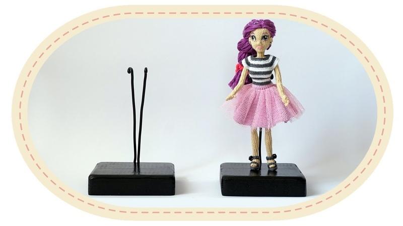 Подставка для куклы своими руками. How to make a doll stand.