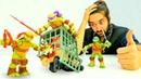 Черепашки Ниндзя - Куда пропал Микеланджело – Видео с игрушками.